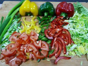 Salat-Zutaten