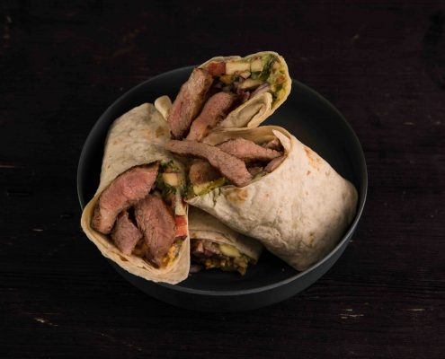 Hot-Pork-Wraps