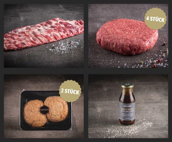 """Ribs & Classic Burger"" Paket für 4"