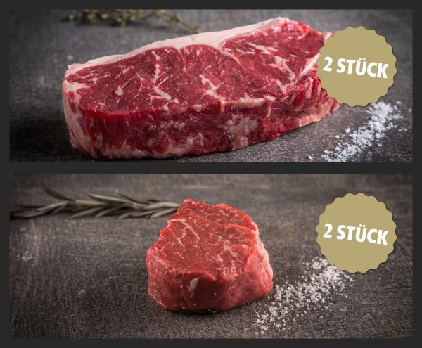 Aktions-Weihnachtspaket US Prime Filet und Rumpsteak