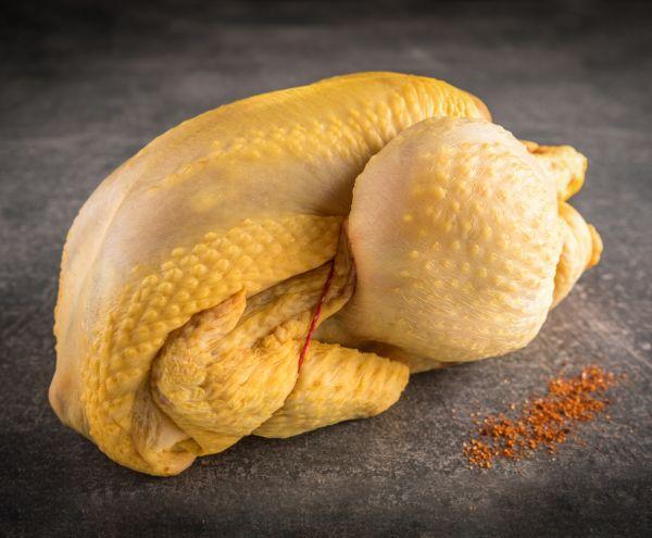 Ganzes Französisches Maishähnchen