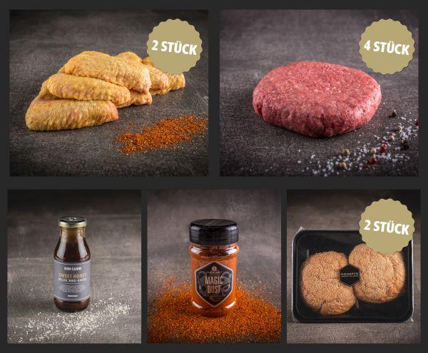 """""""Chicken Wings & Burger"""" Paket für 4"""