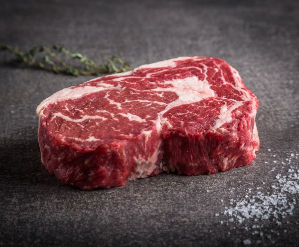 Australisches Black Angus Rib Eye Steak