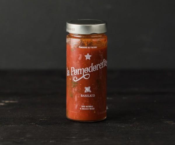 Tomaten- und Basilikum Sauce