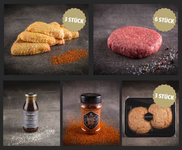 """""""Chicken Wings & Burger"""" Paket für 6"""